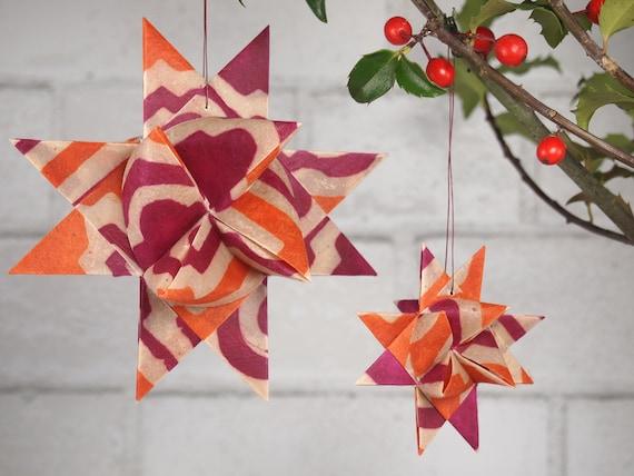 Hot Pink and Orange Hygge Danish Star