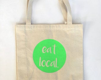 Market Tote, Grocery Bag, Reusable Bag, Go Green Shopping Bag, Canvas Tote, Farmers Market Bag, Eco Friendly bag, reusable shopping bag