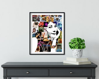 Custom pop art portrait from photo Printable portrait Personalize portrait Photo collage Cartoon portrait Digital portrait Photo Gift for