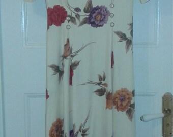 Vintage 80s does 40s Floral Dress