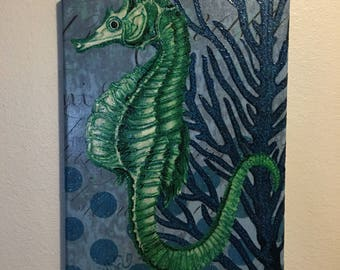 Glitter and glow seahorse