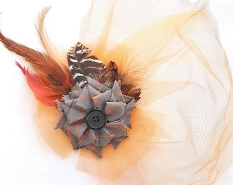 Cage the Sunset Fascinator/ Mini Hat