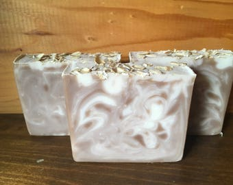 Oatmeal, Milk & Honey Handmade Soap, Homemade, Cold Process, Moisturizing, Coconut Oil, Artisan Soap