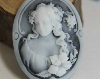24 pcs of   of resin cameo 30X40mm-RC0145-over stock clearance