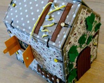 Doll house  Quiet Book Activity Felt Craft Fabric Montessori Handmade