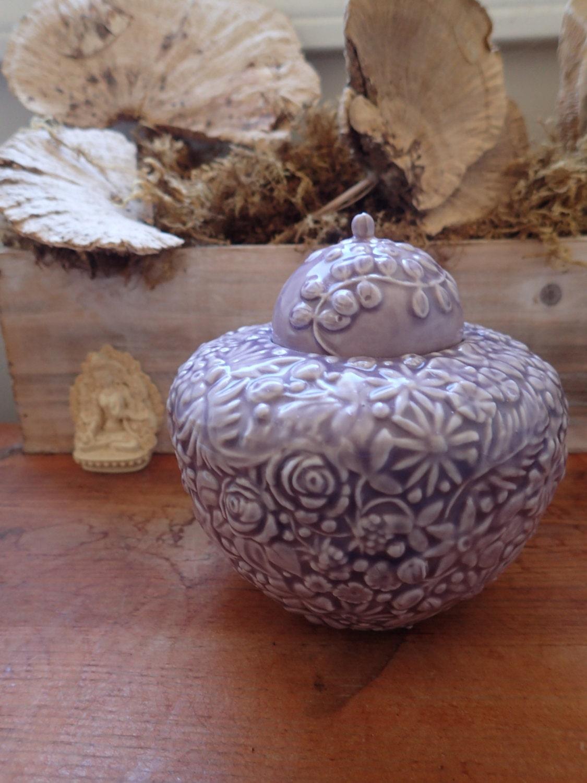 Lavender Pet Urn Millefleurs Design Pet Urn Purple Cat or