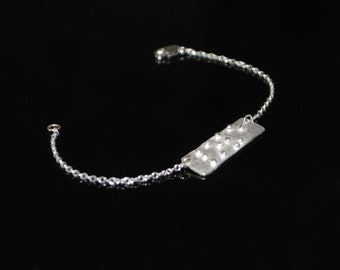 Love is Blind Braille Chain Bracelet