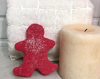 Gingerbread Man Solid Bubble Bath, Gingerbread man Bubble Bar, Peppermint Mocha Bubble Bath, Stocking Stuffer, Christmas Gift, 2oz
