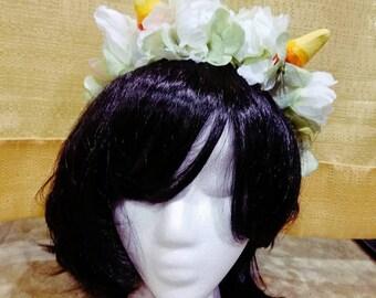 Homestuck Nepeta flower crown and horns headpiece