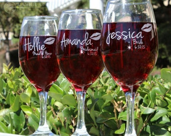 Engraved Wine Glasses