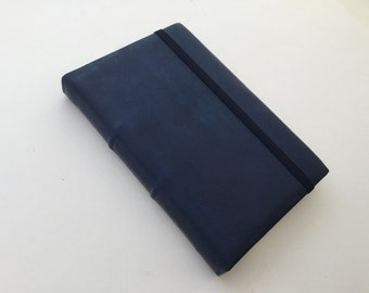 READY TO SHIP Blue Leather Journal
