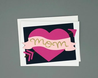 Card for Mom | Mother's Day Card | Mom Tattoo | Mom Birthday Card | Tattoo Card