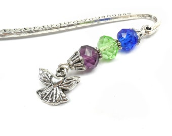 Personalized Bookmark, My Little Angels Birthstone Bookmark, Gift For Grandma