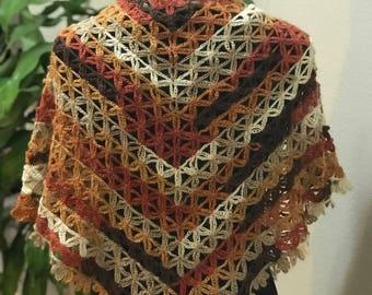 Handmade Triangle Wool Shawl Scarf