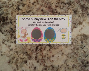20 Easter Gender Reveal Scratch Off Tickets