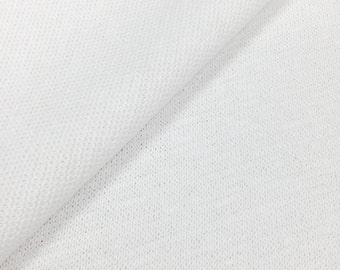 100% Cotton Sweater Knit Fabric (Wholesale Price Available By the Bolt) USA Made Premium Quality - 2203 PFD Optic - 1 Yard
