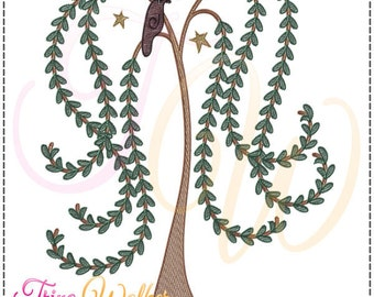 Willow 2 Machine Embroidery Design 5x7, Commercial Use Allowed
