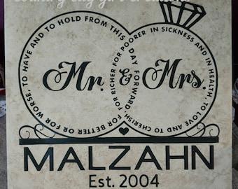 Wedding vows tile