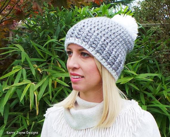 Hat and Scarf crochet pattern Pom pom hat pattern Bobble hat