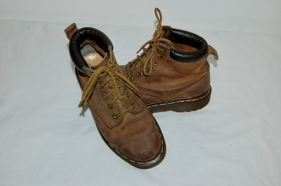 UK England Martens Leather Brown 3 Women Boots in Made Airwair Dr 5 US qXt7wAx1