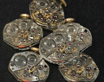 Vintage Watch Movements Parts Steampunk Altered Art Assemblage RT 59