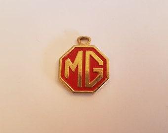 MG keychain keytag key chain vintage