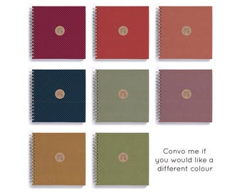 HALF PRICE! 2017-18 Weekly Planner • SMALL 14cm/5.5in Square • Polka Dots Choose Your Colour