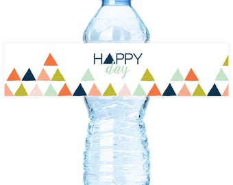 Mod Mountain #Party Water #Bottle #Labels - Print & Ship OR DIY Printable File