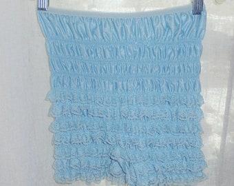 Ruffled nylon panties Petti med-large baby blue sissy Vintage Lingerie