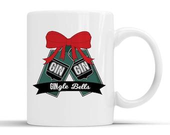 Gin Lover Christmas Mug, Gin Related Secret Santa, Gin Lover Gift, Gin Bottle, Gin and Tonic, Best Friend Gift, Funny Mug, G &T, Gin Fan