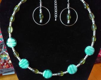 Teal & green set