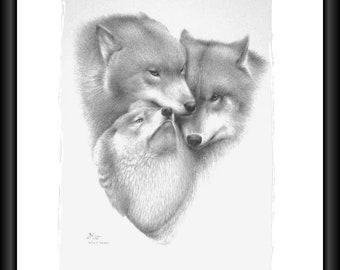 Wolf Triad (LTD PRINT) unframed