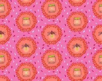 Wee Wander - Glow Friends in Pink  - DC6224-PINK-D - 1/2 Yard