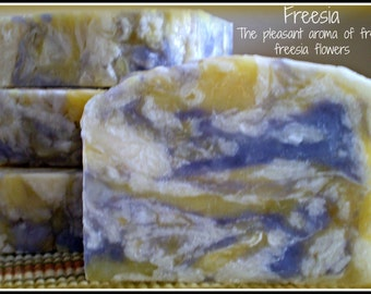Freesia - Rustic Suds Natural - Organic Goat Milk Triple Butter Soap Bar - 5-6oz. Each