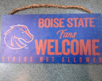 Boise State Welcome Sign