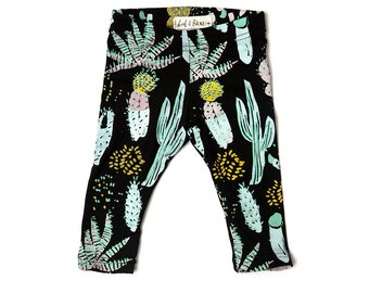 Cactus Kids Leggings - Boys Leggings - Cactus Printed Pants - Organic Cotton Jersey - Unisex Leggings - Toddler Leggings - thief and bandit