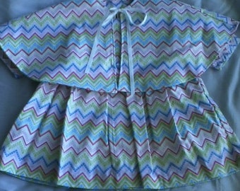 3 to 6 Month Multi Color Dress With Cape
