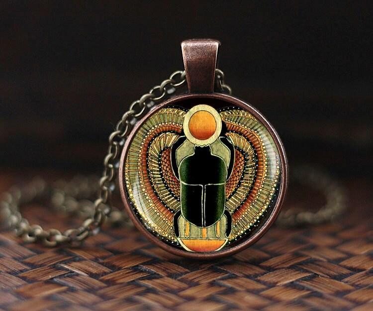 Scarab pendant scarab jewelry ancient egypt jewelry zoom aloadofball Choice Image