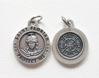 St. Florian Fire Dept. Protection Medal/ Firefighter Protection/ Fireman Protection Jewelry/ Add on Charm