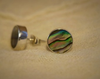 Beautiful Paua (New Zealand Abalone) Studs