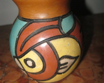 Taller Pottery Monoada Peru Vase! #BV
