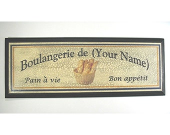 PERSONALIZED BOULANGERIE SIGN