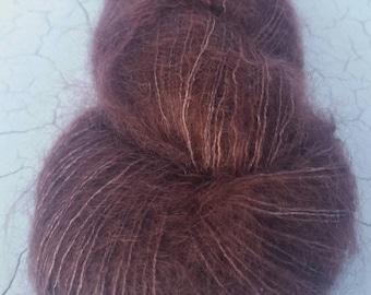 Myrtle Lace/2ply Mohair/Silk 'Crimson Blush'