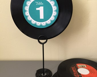 Lace Border 45 Record Table Numbers - Sample