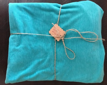 Teal Knit Swaddle