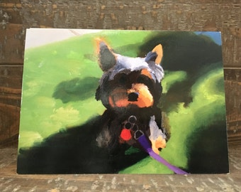 Note Card -- Yorkie Sitting