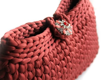 Elegant Handbag - Crocheted Clutch - Clutches Evening Bag