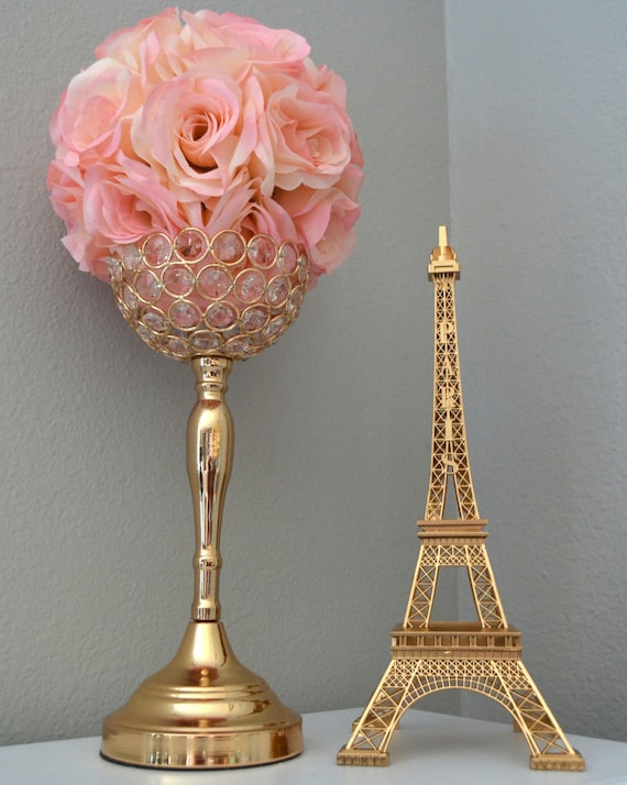 Gold eiffel tower centerpiece parisians theme decor paris junglespirit Image collections