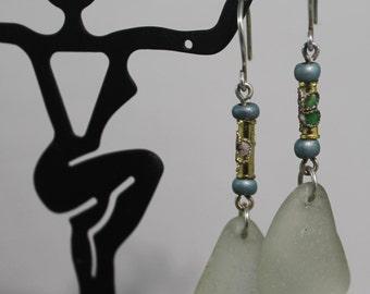 PEI Aqua Sea Glass Earrings