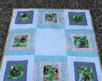 Baby Shower Gift, Handmade Baby Blanket, Quilted Blanket, Boy or Girl Quilt